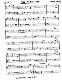 [Jazz Realbook I : Page 149] FEE-FI-FO-Fum - Jazz Standard Sheet Music Jazz Songs, Jazz Standard, Music Chords, Music Theory, Piano Sheet Music, Guitar, Piano Music, Guitars