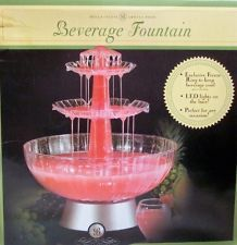 Bella Cucina 3 Tier Led Lighted Party Beverage Fountain Wedding Anniversary