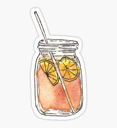 Mason Jar Summer Sun Ice Tea in Watercolor Sticker stickers design Tumblr Stickers, Phone Stickers, Journal Stickers, Cool Stickers, Printable Stickers, Macbook Stickers, Snapchat Stickers, Griffonnages Kawaii, Homemade Stickers