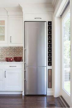 wine rack column next to refrigerator - Google Search