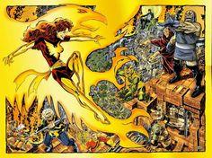 Phoenix vs. Darkseid By John Byrne