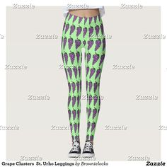 Grape Clusters  St. Urho Leggings