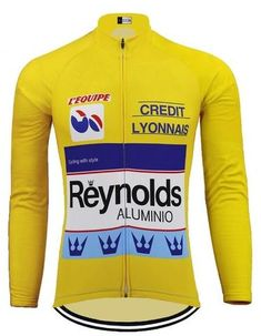 Brand New combined tour de france Fleece Thermal cycling Long Sleeve Jersey