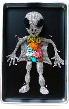 Crocheted Alien Autopsy