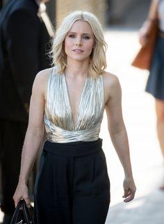 Kristen Bell Arriving to Appear on 'Jimmy Kimmel Live' in Los Angeles 7/19/2016