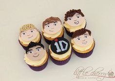 one direction cupcakes, of course imma pin it ;)