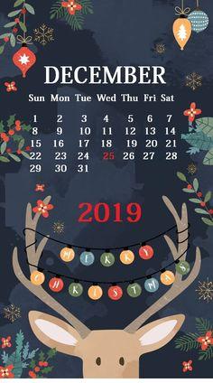 Cute iPhone 2019 Calendar Background January February March April May June July August September October November December FloralBeautiful Screensaver HD Free