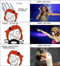 When Singing