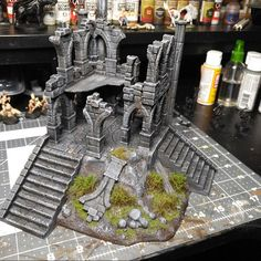 The Lost Islands - Wizard Tower - Wargaming Terrain D&D, DnD, Pathfinder, SW Legion, Jason added a photo of their purchase Warhammer Terrain, 40k Terrain, Wargaming Terrain, Warhammer 40k, Warhammer Models, Make Your Own Game, Foam Factory, Tabletop, Games