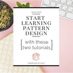I never took a class on surface or textile design, but I found two free online tutorials that gave me the knowledge I needed to make my own patterns and start selling products.I hope these tutorials will help you make your own patterns too.