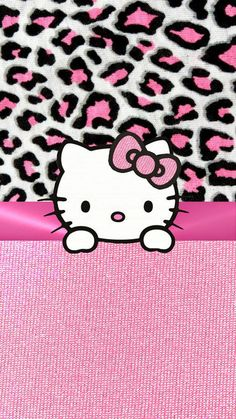 PINK HELLO KITTY IPHONE WALLPAPER BACKGROUND