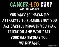 Cancer leo cusp dating leo male gemini