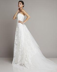 shoulder wedding dress Free slight A-line with a wonderful head of Giuseppe Papini