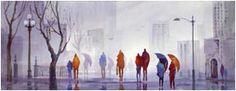 """John Ebner - Prints, """"Rainpeople III"""""""