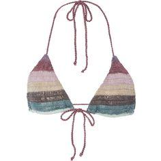 8cf42c09d9 Mara Hoffman Organic Crochet Bikini Top ( 130) ❤ liked on Polyvore  featuring swimwear