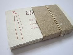 Custom Business Cards  Handmade Paper Business by ElodiesShop