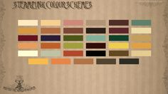 Emma Foster CGA&A: Steampunk Colour Palette