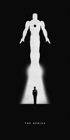 Affiches silhouettes de Khoa Ho - Iron Man
