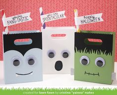 Lawn Fawn - Goodie Bag Lawn Cuts die, Spooktacular, Grassy Border Lawn Cuts _  goodie bags by Cristina for Lawn Fawn Design Team