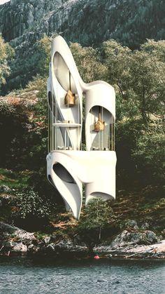 Hotel Design Architecture, Concept Models Architecture, Organic Architecture, Futuristic Architecture, Facade Architecture, Amazing Architecture, Tectonic Architecture, Parametric Architecture, Futuristic Home