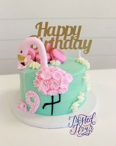 It was such a pleasure to make this pretty flamingo cake inspired by . Flamingo Party, Flamingo Cake, Flamingo Birthday, Cupcakes, Cupcake Cakes, Fondant Cakes, Hawaian Party, Tooth Cake, Puddings