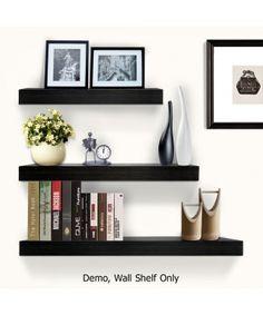3 pcs Floating Shelf Set - Black