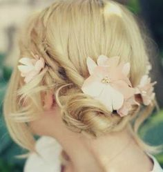 Wedding Twisted Updo for medium hair.  Just 1 of 39 different updo styles for mid-length hair.