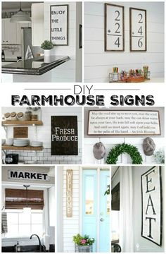 11 Gorgeous DIY farmhouse signs for the perfect Fixer Upper look! http://www.littlehouseoffour.com