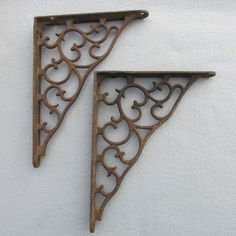 c1890 Victorian Architectural Shelf Brackets with Scroll Motif by Neatcurios on Etsy