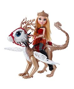 Another great find on #zulily! Ever After High Dragon Games Apple's Dragon Doll Set #zulilyfinds