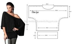 Here you see i easy shirt. If you have i little experience you can draw it your self. Sewing is so easy