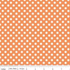 Riley Blake Designs - Knit Basics - Small Dot Knit in Orange