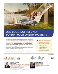 Here are some ways you can use your tax refund for a home purchase.