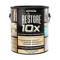 Rustoleum Restore for: Concrete Driveways Decks Patios Docks Wood