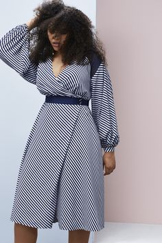 Check Out the Chic AF Looks From Prabal Gurung& Lane Bryant Plus-Size Collection Plus Size Spring Dresses, Plus Size Outfits, Mini Dresses, Ball Dresses, Wrap Dresses, Plus Size Fashion For Women, Plus Size Women, Lane Bryant, Casual Chique