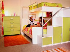 Affordable bunk beds! Saves space and includes storage!
