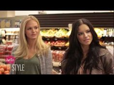 Victoria's Secret models Erin Heatherton and Adriana Lima go grocery shopping with host Laura Brown. Find out what products the Angels use to wash their lingerie, what type of cheese they love the most and how many bikinis they each own. Plus, you won't want to miss seeing Laura Brown try on the Victoria's Secret Angel wings.