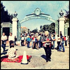 Sather Gate, 1981.  Photo from the 1981 Blue & Gold  #cal #ucberkeley #sathergate #throwbackthursday #polkadotman
