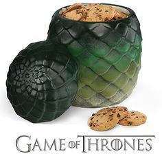 Game of Thrones Dragon Egg Cookie Jar I need one,...thanks to my awesome aunt we now have one!