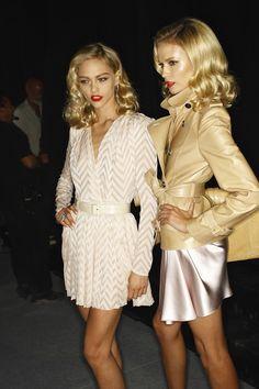 Sasha Pivovarova & Natasha Poly backstage at Christian Dior RTW S/S 2010 <3 <3 <3