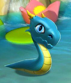 Baby blueflame dragon