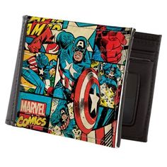 Captain America Collage Mens Wallet on CafePress.com