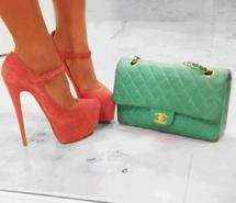 fashion, girl, green, heels (Full Size)