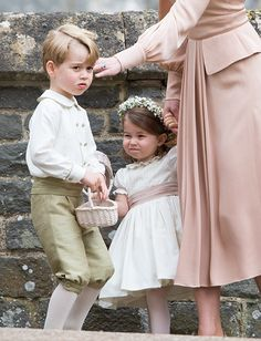 - Photo - Royal bridesmaids and pageboys: see Prince George, Princess Charlotte, Prince Harry, and even the Duchess of Cornwall at weddings Princess Beatrice, Princess Elizabeth, Princess Eugenie, Princess Charlotte, Princess Diana, Robbie Williams Daughter, Lady Louise Windsor, Zara Phillips, Royal Engagement