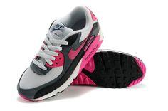 Air Max 90 Verkoop Online Nederland Nike Dames Sneakers Schoenen Antraciet/Zwart/Perzik