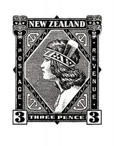 Historical NZ Stamp Print - Wahine for Sale - New Zealand Art Prints