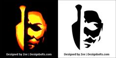 5 Trendy Pumpkin Carving Stencils / Printable Patterns / Designs / Ideas for Halloween 2018 Michael Myers Pumpkin Carving Stencils Patterns Printable Ideas 2018 Scary Pumpkin Carving Patterns, Awesome Pumpkin Carvings, Disney Pumpkin Carving, Creepy Pumpkin, Scary Halloween Pumpkins, Amazing Pumpkin Carving, Pumpkin Carving Templates, Halloween Crafts, Unique Pumpkin Carving Ideas