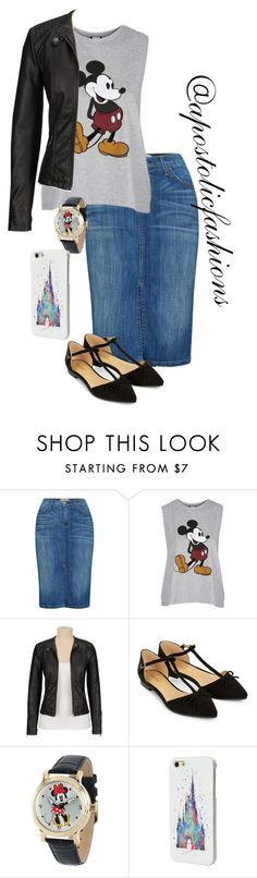 """""""Apostolic Fashions #1312"""" by apostolicfashions on Polyvore featuring Current/Elliott, Topshop, maurices, Accessorize and Disney"""