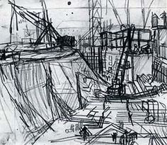 A sketch of plans for a building site - Frank Auerbach
