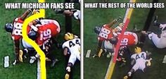 What michigan fans see, what the rest of the world sees
